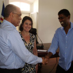 Boa Vista Mayor Jose Pinto Almeida and Carol Castiel after signing