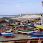 Fishing boats in Ponta do Sol.  Photo taken by Larry Luxner